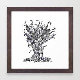 Alien Shrubbery Framed Art Print