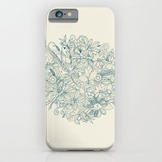 Denim flower circle Slim Case iPhone 6s