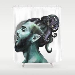 AfroAquaMan Shower Curtain