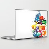 the perks of being a wallflower Laptop & iPad Skins featuring And In That Moment I Swear We Were Infinite - Perks of Being a Wallflower - Paint Splatter Poster by ehhdesign