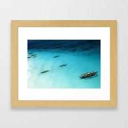 White Beach Boracay Framed Art Print