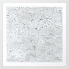 rippled liquid marble Art Print
