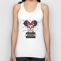 minnie mouse Tank Tops featuring Bad Guys / Minnie Mouse by mebz art