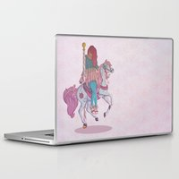 carousel Laptop & iPad Skins featuring Carousel by Leigh Wortley