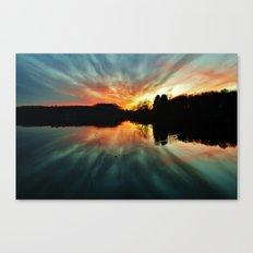 Magical evening at the lake Canvas Print