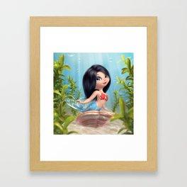 Cute Mermaid Framed Art Print