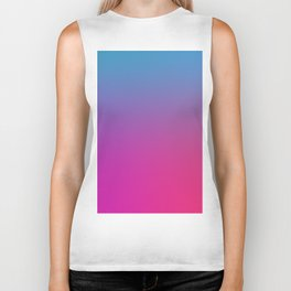 WIZARDS CURSE - Minimal Plain Soft Mood Color Blend Prints Biker Tank