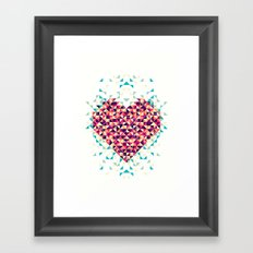 A heart is made of bits and pieces Framed Art Print