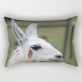 Llama outdoors Rectangular Pillow