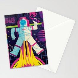 Space Man Rocket Pop Stationery Cards