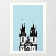 Tyn Church - Prague Art Print
