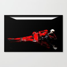 Red Robot Recharge Canvas Print