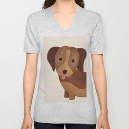 Dog Nursery Art print, Dog Print, Animals Print, Modern Minimal Unisex V-Neck
