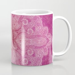 Big paisley mandala in raspberry Coffee Mug