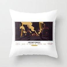 Ironforge Classic Rail Poster Throw Pillow