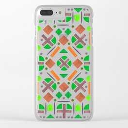 Colorful Forest Shape Pattern Design Clear iPhone Case