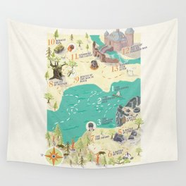 Princess Bride Discovery Map Wall Tapestry