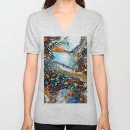 Agate Geode Abstract Unisex V-Neck