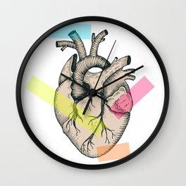 Realistic anatomical vector heart Wall Clock