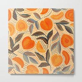 Life's a Peach Pattern Metal Print