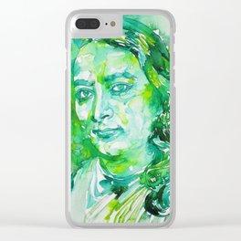 PARAMAHANSA YOGANANDA - watercolor portrait Clear iPhone Case