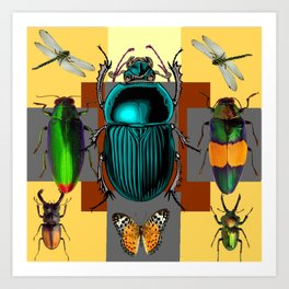 BUGGY INSECT LOVERS ART Art Print