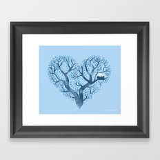Home is where the nest is Framed Art Print