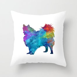 Pomeranian in watercolor Throw Pillow