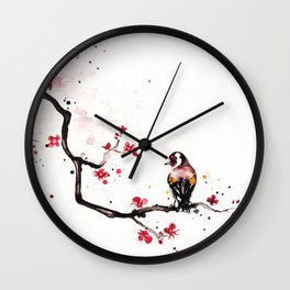 "The tiny wings ""The goldfinch"" Wall Clock"