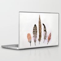 feathers Laptop & iPad Skins featuring Feathers by emegi