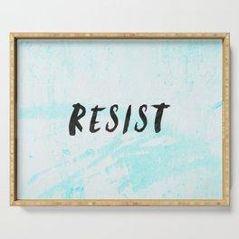 RESIST 5.0 - Black on Teal #resistance Serving Tray
