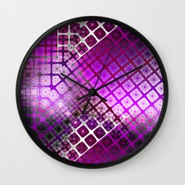 Place 2B Pattern (Berry Much) Wall Clock