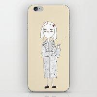the royal tenenbaums iPhone & iPod Skins featuring the royal tenenbaums - margot by sharon
