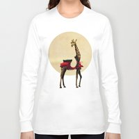giraffe Long Sleeve T-shirts featuring Giraffe by Ali GULEC