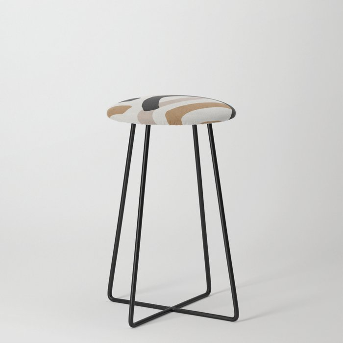 Abstract shapes art, Mid century modern art Counter Stool