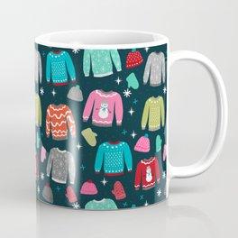 Winter Sweater weather festive holiday snowflakes snow day fun sledding Coffee Mug