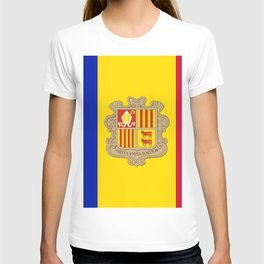 flag of Andorra 2 T-shirt