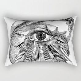 Engraving - Eyed Heart Rectangular Pillow