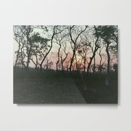 Sunset in Bangladesh Metal Print