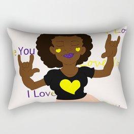ASL I Love You Rectangular Pillow