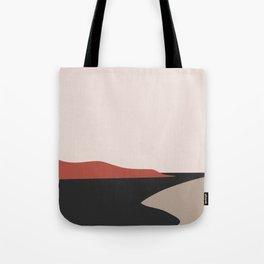 Minimal sandy beach  Tote Bag