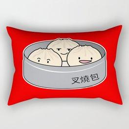 Pork Bun dim sum Chinese breakfast steamed bbq buns Rectangular Pillow