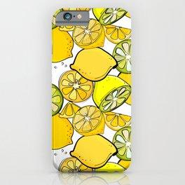 Lemon pattern iPhone Case