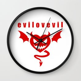 eviLOVEvil Wall Clock