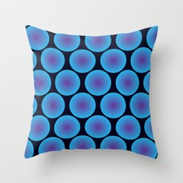 Bullseye in Blue Throw Pillow