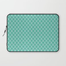 Quatrefoil - Teal Laptop Sleeve
