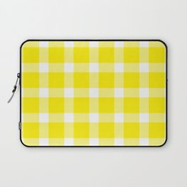 Plaid Canary Yellow Laptop Sleeve