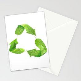 "Ecology friendly symbol ""Go green"" Stationery Cards"
