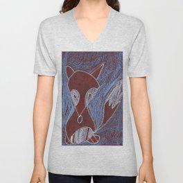 Rainforest Fox Unisex V-Neck