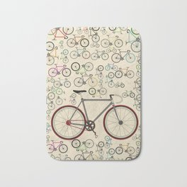 Love Fixie Road Bike Bath Mat